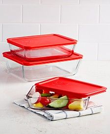 Pyrex 6 Pc Rectangular St Storage Sets Pyrex Storage Pyrex