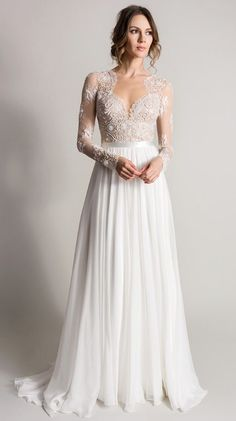 Wedding dress idea; Featured Dress: Suzanne Neville