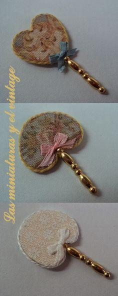 Dollhouse Miniature Gold Fan style clock