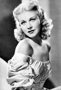"""Ginger Rogers. """"I've made thousands of mistakes, but they've all been stepping stones toward a better concept of life."""" style icon"""