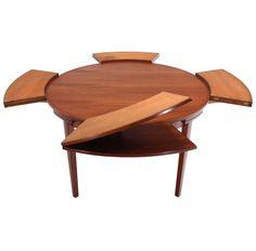 Rare Danish Modern Teak Round Expandable Top Dining Table - https://www.1stdibs.com/furniture/tables/dining-room-tables/rare-danish-modern-teak-round-expandable-top-dining-table/id-f_3703302/