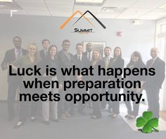 At Summit Consulting we make our own #LUCK everyday by preparing for #SUCCESS... but it doesn't hurt to have a little extra today on Saint Patrick's Day!  // #glenburnie #summitconsulting #preparation #opportunity #success101 #saintpatricksday | https://www.linkedin.com/company/summit-consulting-