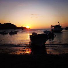 Fishing village sunset in Taganga #colombia #sunset #solitarysociety #travelcom #fishingboats #beautifulskies #thisworldisanamazingplace