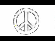 How to Draw PEACE Sign - Cool Things to Draw