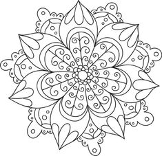 a generic term for any diagram, chart or geometric pattern that represents the cosmos metaphysically or symbolically; a microcosm of the universe. Free Adult Coloring Pages, Mandala Coloring Pages, Coloring Book Pages, Paper Embroidery, Hand Embroidery Designs, Embroidery Patterns, Mandala Pattern, Mandala Design, Mandela Drawing