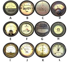 Industrial Meter Drawer Pulls Steampunk by WallpaperYourWorld