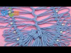 ▶ Как соединить ленты на вилке Урок 18 часть 4 из 4 Вязание на вилке - YouTube