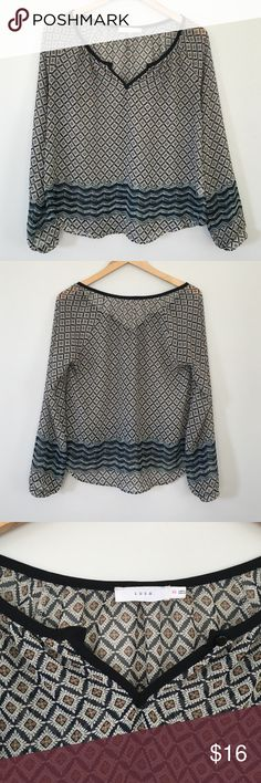 "Lush Bohemian Peasant Top Beautiful sheer top in like new condition.   ✅ Bundle and Save ✅ 🚭 ✅ All reasonable offers will be considered 🚫 No Trading  📝 Measurements taken when laying flat Ⓜ️ Chest 19"" Ⓜ️ Length 24"" Lush Tops Blouses"