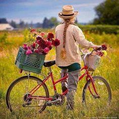 Çiçekli bisiklet