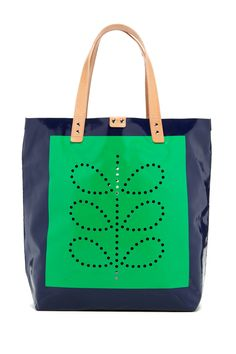 Orla Kiely | Punched Stem Tarpaulin Willow Large Tote