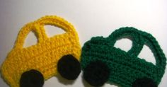 Crochet Car Pattern I was thinking about possible decorations for my boy's sweater, and came up with making a couple of colored cars....