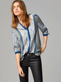 Blusas Femininas New Fashion Women Shirts Long Sleeve Blouse Casual Totem Print Shirt Ladies Puls Size Tops