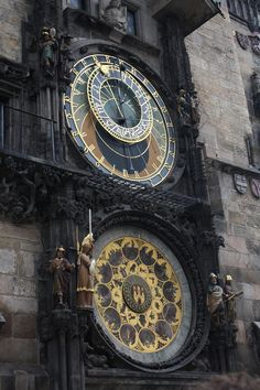 The Astronomy Clock in Prague town square - you can't miss it!