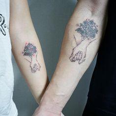 creative couple tattoo ©