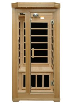 Crystal Sauna Basic Series 1 Person Carbon FAR Infrared Sauna & Reviews   Wayfair   Full AM / FM / CD player stereo with mp3 hook up 2 dynamic speakers; Oxygen ionizer and roof vent Pump (600 gph), filter, 2 l