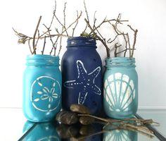 Cute Coastal Inspired Mason Jar Idea