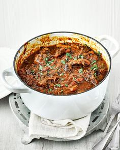 This beef shin and ale ragù recipe makes enough for 12 people, so serve at a dinner party or freeze the other half for another day.