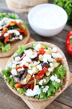 Roasted Vegetable Pita Sandwiches on via @Maria (Two Peas and Their Pod) An easy and healthy meal! #recipe