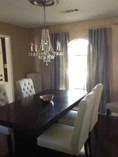 Gray Dining Room- medallion for light!