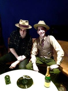 Unpublished photo of Jack and Pokey LaFarge, when he signed his contract on TMR // Foto inedita de Jack y Pokey LaFarge, cuando Pokey firmo su contrato en TMR  http://thirdmanstore.com/thevault/home/show/pokey-lafarge-record-release-day/