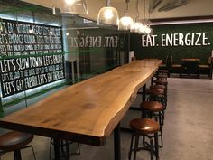 Freshii: Live Edge Communal Table