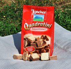 Knusprig-leichte Waffelblätter und eine zart schmelzende Creme aus Haselnüssen - Naschkatzen werden diese Quadratini lieben!