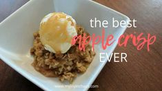 The Best Apple Crisp Ever {Recipe} Bring the taste of fall into your home with this incredible apple crisp using common pantry ingredients. Don't let fall pass you by without making a pan of this for dessert! Apple Dessert Recipes, Apple Crisp Recipes, Fall Desserts, Caramel Apple Crisp, Caramel Apples, Best Apple Crisp Ever, Yummy Treats, Delicious Desserts, No Bake Snacks