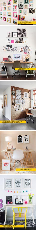 Como decorar gastando pouco: Home offices (escritórios) - Bramare por Bia LombardiBramare por Bia Lombardi