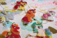My Little Pony 'Friendship is Magic' Charm Necklace. $8.00, via Etsy.