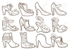Fashion Shoes Collection Coloring Book