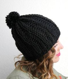 The Cozy Ribbed Slouchy Hat just oozes comfort and style. Made from bulky weight yarn, this crochet hat pattern has a ribbed effect that creates a fun texture. The loose, casual style also makes this the perfect accessory for any outfit.
