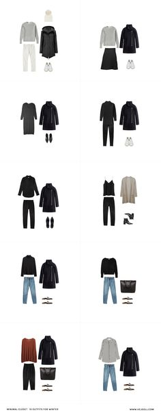 10 Days of Winter Outfits from my minimal closet
