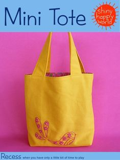 Beginner's Mini Birdie Tote - PDF Sewing Pattern