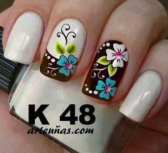 Lovr these nails Fall Nail Designs, Cute Nail Designs, Nail Manicure, Toe Nails, Fingernail Designs, Flower Nail Art, Fabulous Nails, Nail Art Diy, Stylish Nails