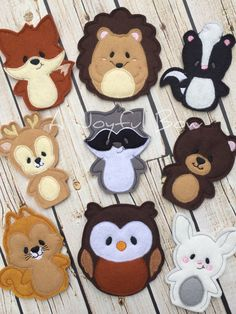 Woodland animal finger puppets toddler toys forest animals