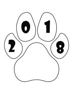 Трафареты на окна на Новый год 2018: трафареты собак 2018