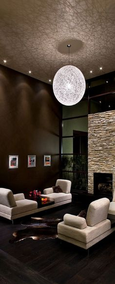 ♂ Modern interior design living room area