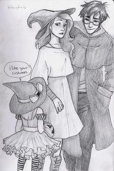 Harry and Ginny on Halloween : Hinny ship week