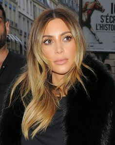 Image result for kim kardashian ombre hair