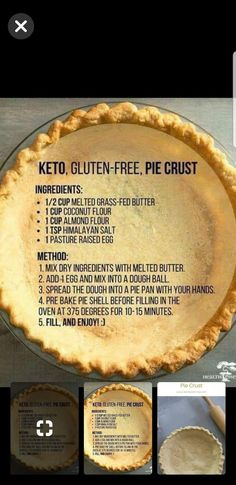 Weight Loss Plans For Men Keto pie crust.Weight Loss Plans For Men Keto pie crust. Gf Recipes, Ketogenic Recipes, Low Carb Recipes, Cooking Recipes, Dinner Recipes, Recipies, Curry Recipes, Gluten Free Pie Crust, Gluten Free Baking