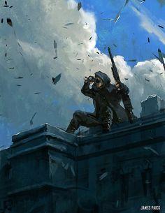 ArtStation - World War 2 Series - Lookout, James Paick