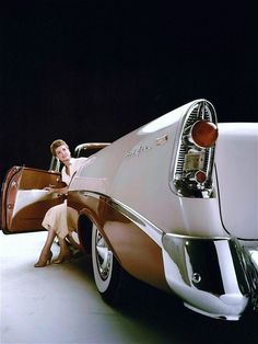 1956 Bel Air driving in style