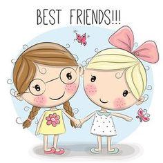 two-cute-cartoon-girls-vector-id528487992 (416×416)