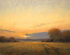 Field Paths by Kim Casebeer Oil ~ 12 x 16