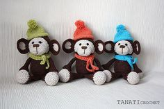 Toy crochet pattern Monkey Amigurumi tutorial PDF file