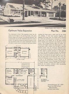 Vintage House Plans  Plan No. 2384