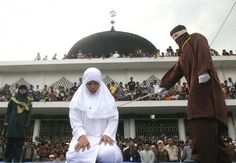 If a woman reports a rape without being backed up by four males, then under Sharia law, she can then be convicted of adultery, and punished by caning or stoning