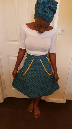 Shweshwe skirt/african print skirt/short african print skirt - pinned by pin4etsy.com