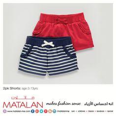2pk Shorts: age 3-13yrs  www.matalan-me.com  #Matalanme #Shorts #Kids #Trend #GoodQuality #GreatPrice #MakesFashionSense #AlBarakaMall #ArabianCentre #DalmaMall #LamcyPlaza #MushrifMall #CenturyMall #MirdifCityCentre #SaharaCentre #GalleriaMall #Gulfmallqatar #ALGhurairCentre #KhalidiyahMall #BahrainCityCentre #RAKMall #WafiMall #AlFoahMall #MarkazAlBahja #Omanavenuesmall #MeccaMall
