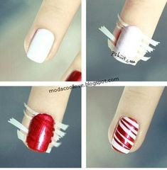 Nail art is a very popular trend these days and every woman you meet seems to have beautiful nails. It used to be that women would just go get a manicure or pedicure to get their nails trimmed and shaped with just a few coats of plain nail polish. Holiday Nail Designs, Simple Nail Designs, Holiday Nail Art, Diy Nail Designs Step By Step, Do It Yourself Nails, How To Do Nails, Cute Nails, Pretty Nails, Sexy Nails